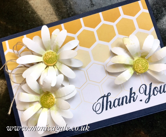 handmade daisy card from stampin' up!