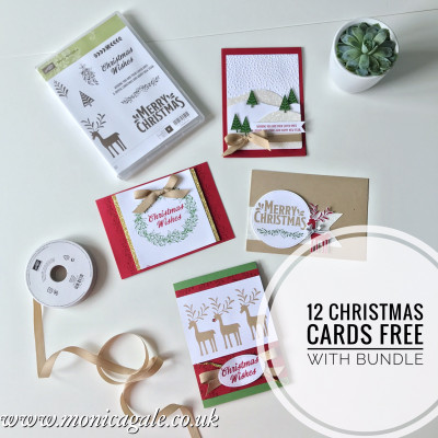 Stampin' Up! Be Merry Suite – 12 FREE CHRISTMAS CARDS straight to your door