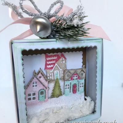 Hearts Come Home Shadow Box Ornament
