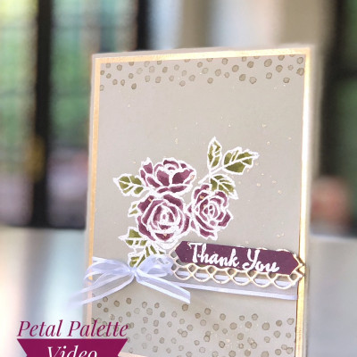 Petal Palette Elegant Card