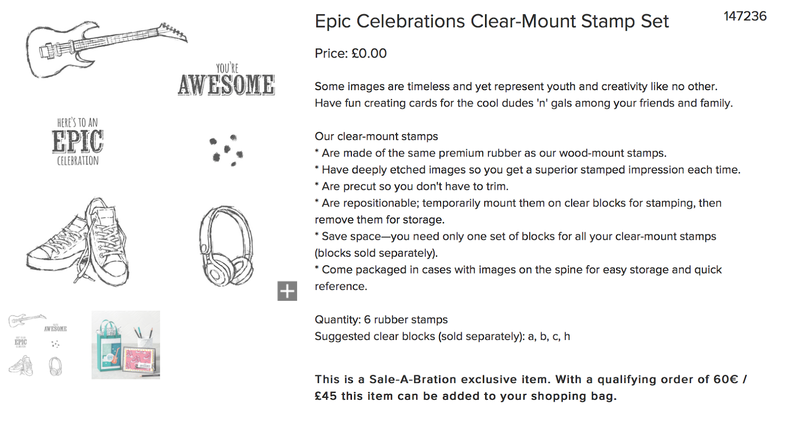 Stampin up Epic Celebrations