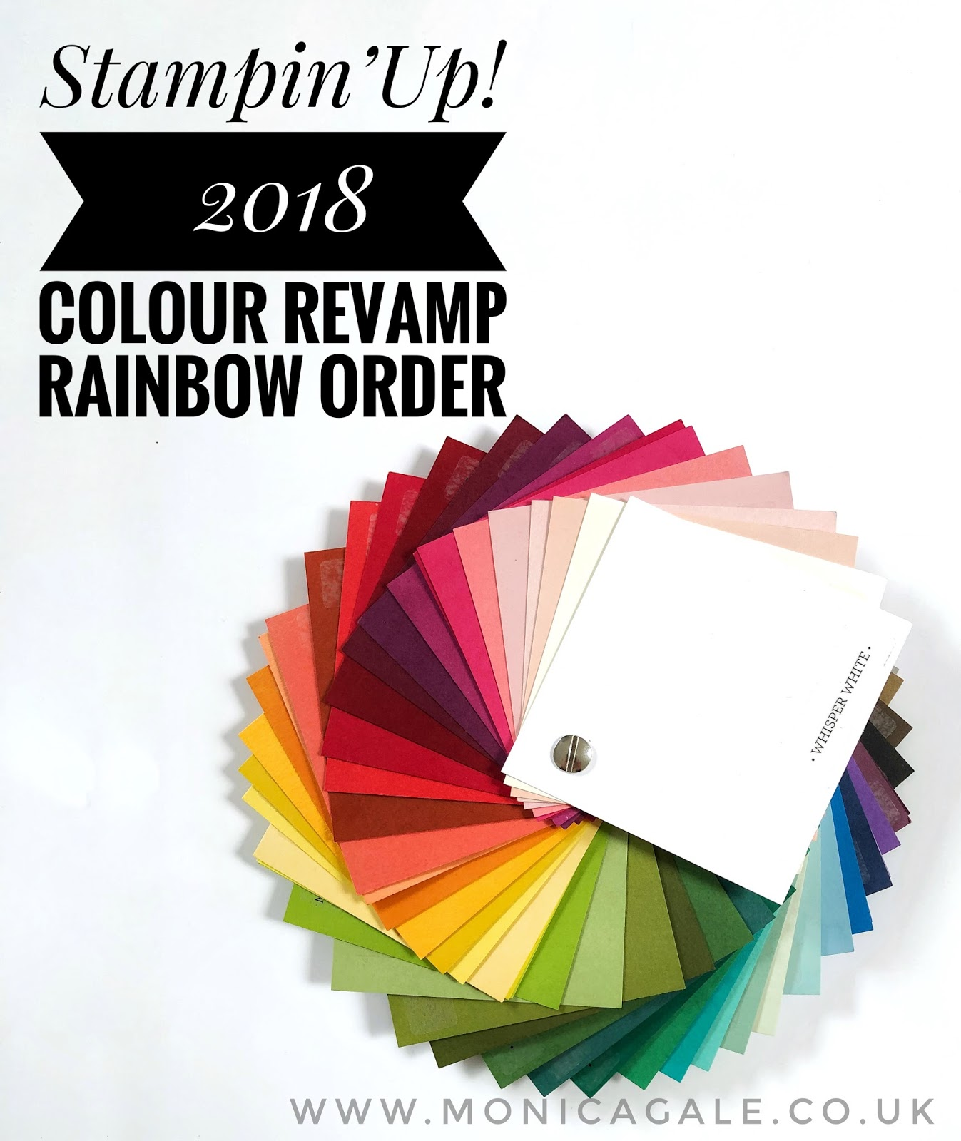 Stampin Up Rainbow Order 2018 #rainbow #stampinup #colourrevamp