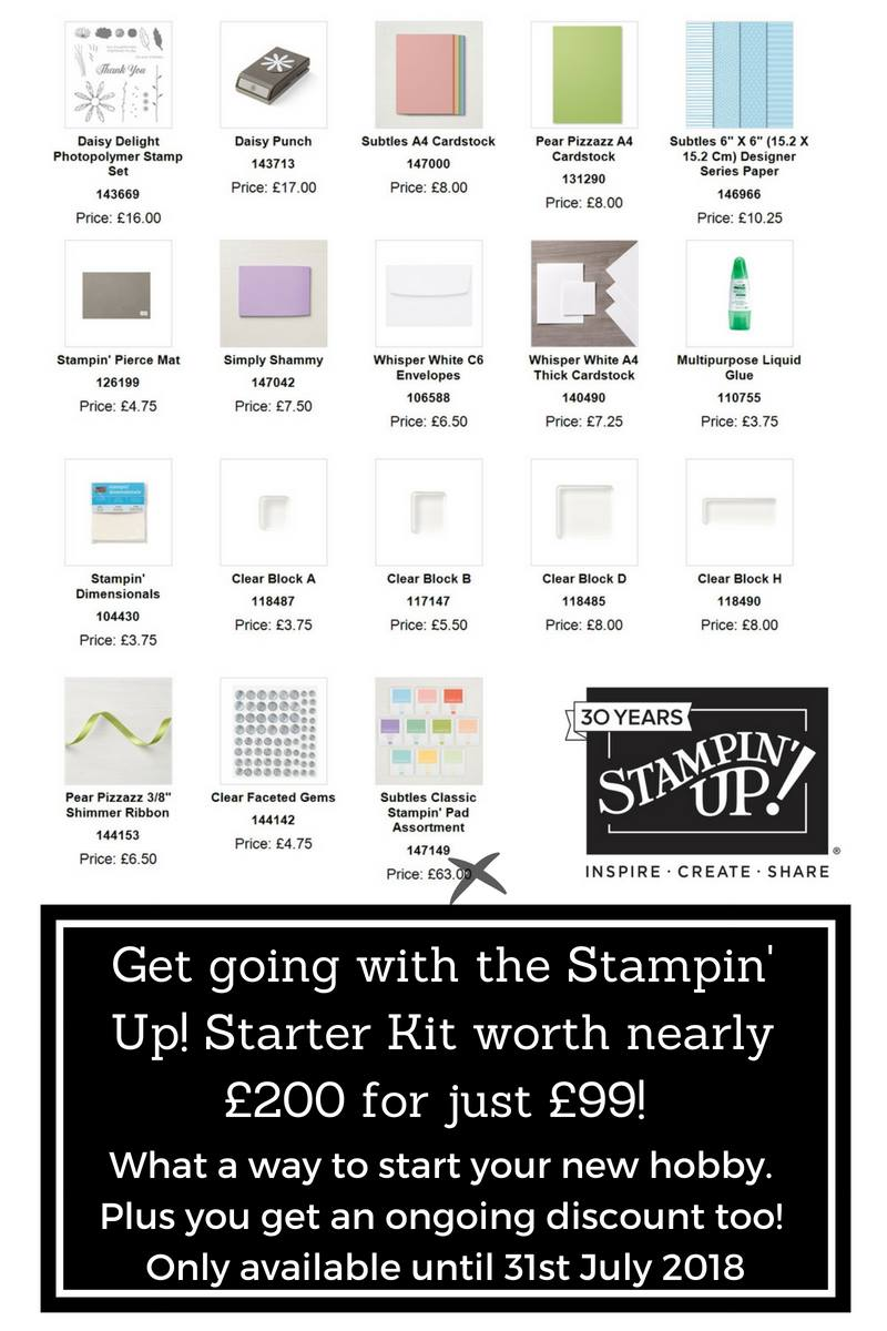 Join Stampin Up for £99 and get 10 free ink pads