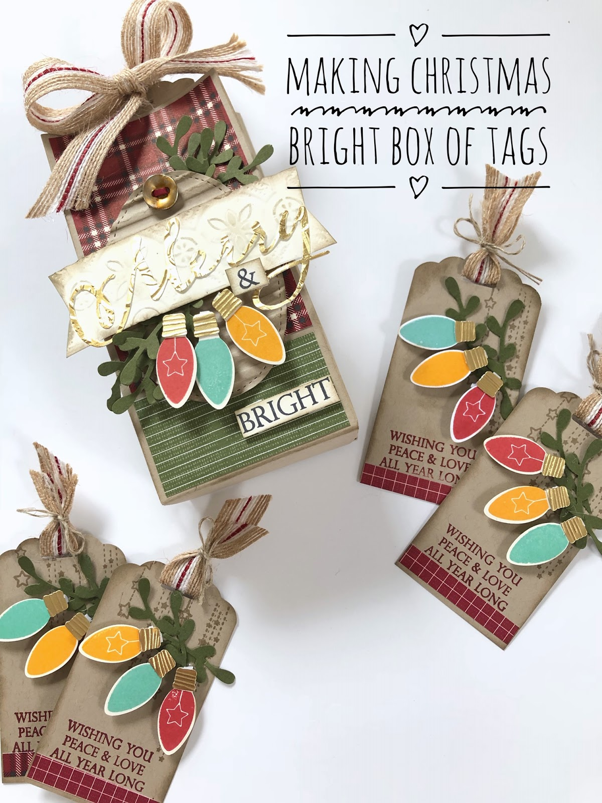 Christmas Box of Tags Stampin Up