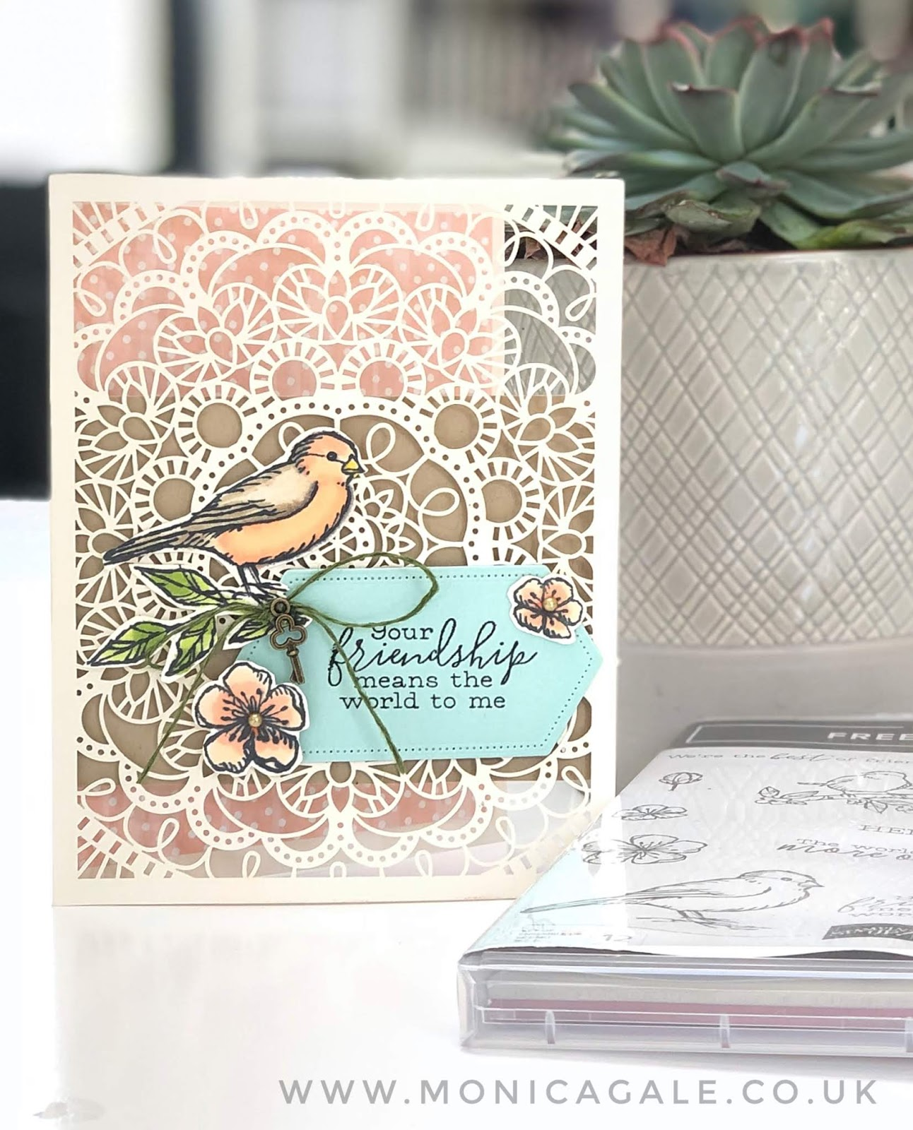 friendship handmade card featuring bird ballad stamps from stampin up
