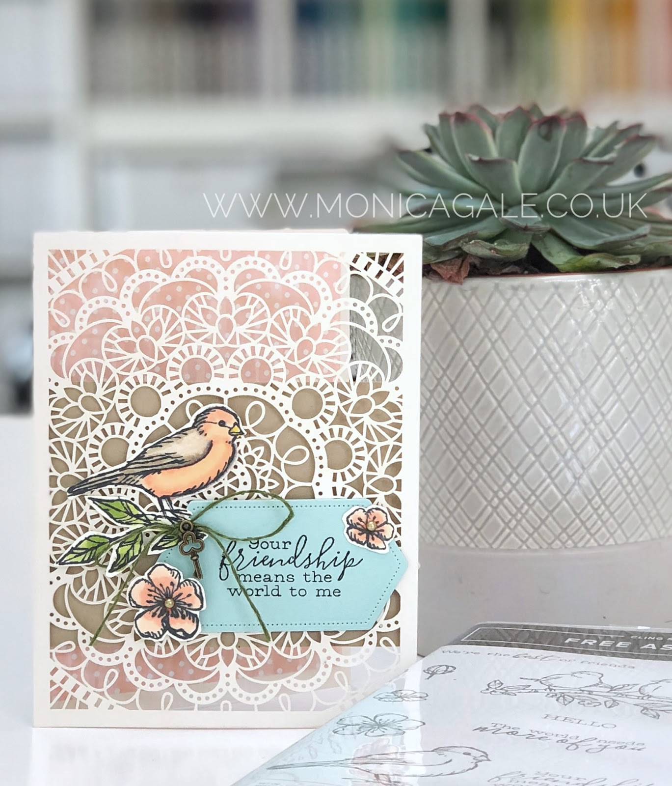 Stampin' Up! Bird Ballad stamps were used for this beautiful handmade card