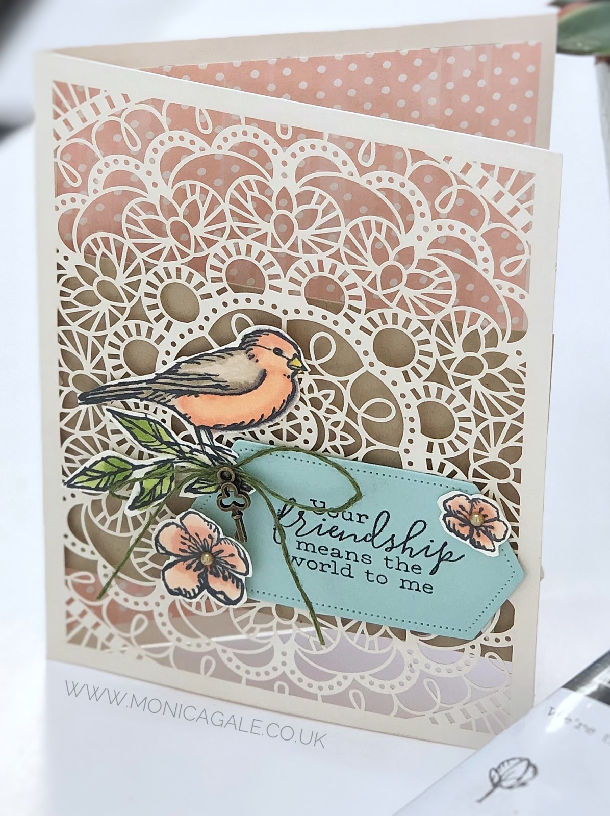 Stampin Up handmade card using Bird Ballad stamps