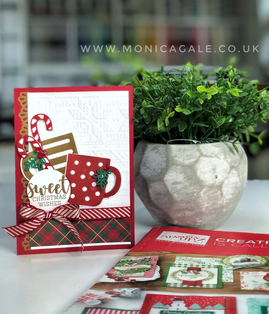 Stampin up Cocoa Mug/ Cups christmas cards ideas with candy cane