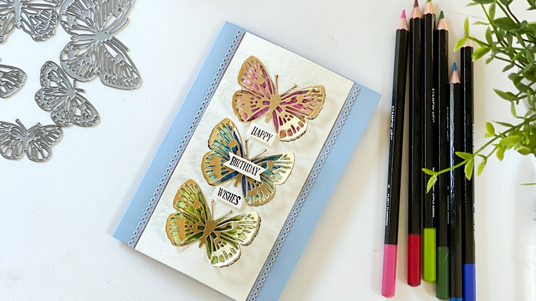 Handmade card idea using Butterfly Bouquet Stampin'Up!