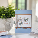 Hello handmade card using vine design bundle from Stampin' Up!