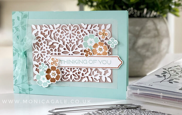 Stampin' Up! Vine Design bundle for this handmade card ideas