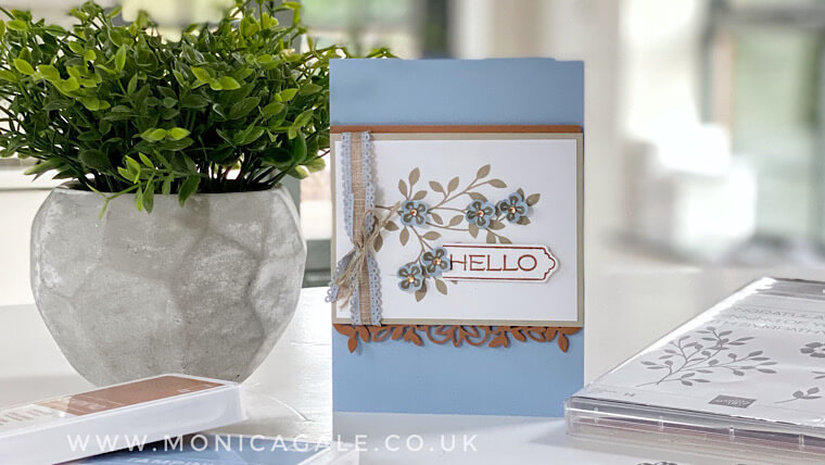 Vine Design from Stampin' Up! handmade Hello card