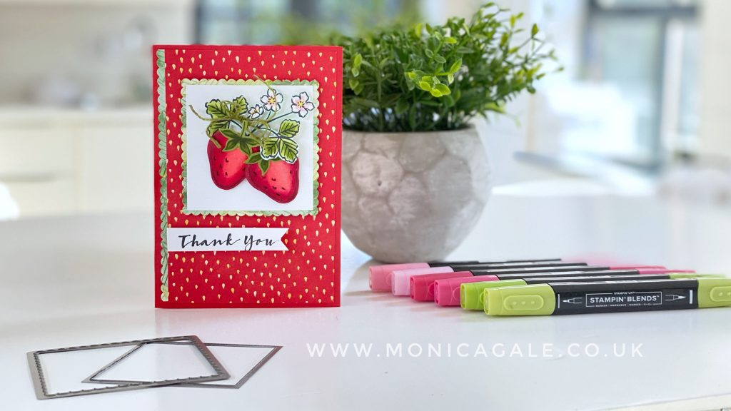 Stampin Up Sweet Strawberry handmade thank you card