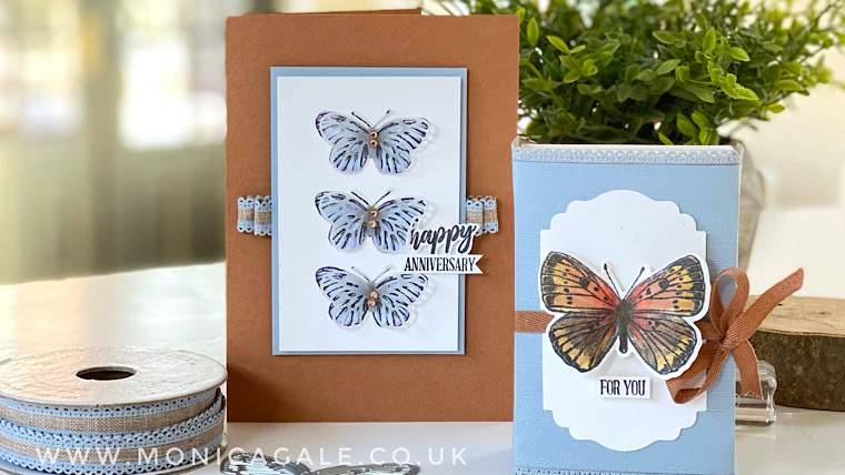 Stampin' Up! Butterfly Bouquet Handmade Birthday card ideas from Top UK demonstrator Monica Gale
