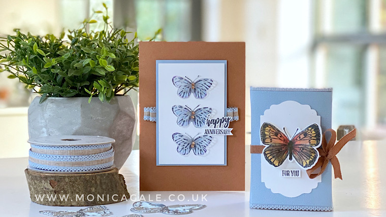 Butterfly Bouquet Handmade Card and Gift packaging idea from Top UK Stampin' Up! demonstrator Monica Gale