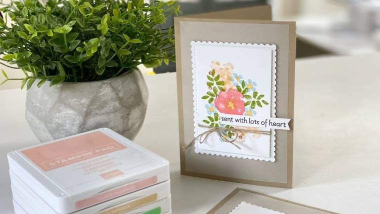 Stampin' Up! INSPIRING IRIS handmade card ideas