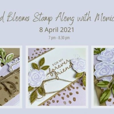 BRUSHED BLOOMS Stampin' Up! Stamp Along