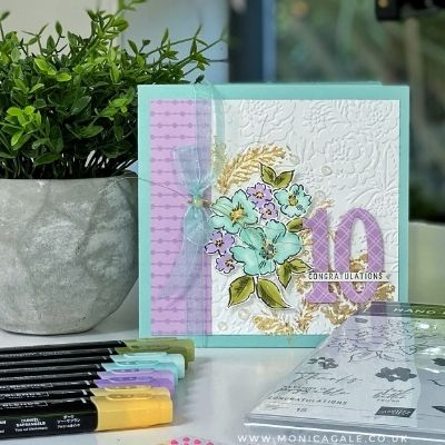 Hand Penned Stampin'Up! Anniversary Card